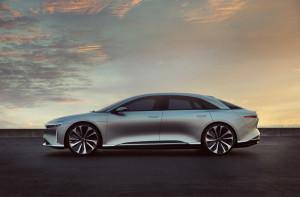 Lucid Air left
