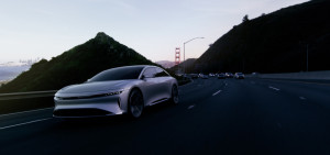 Lucid Air road