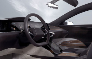 Lucid Air steering wheel